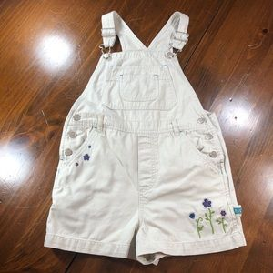 Circo Overall Sorts Flower Embroidery Girls M